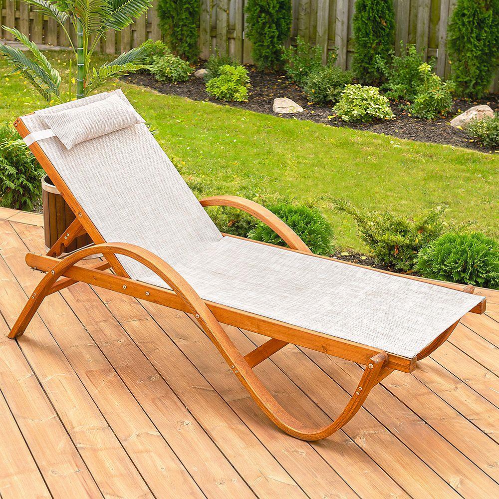 Leisure Season Reclining Sling Chaise Lounge