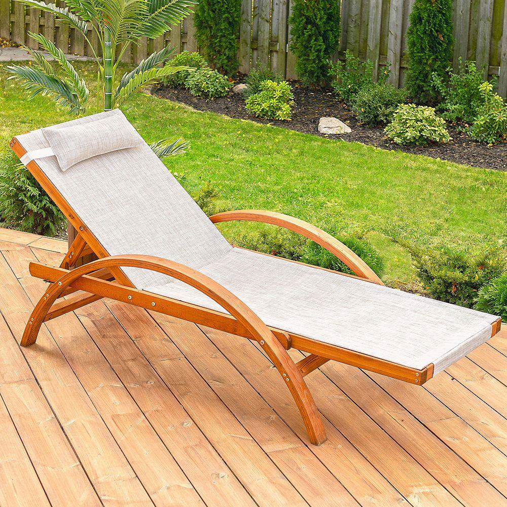 Leisure Season Reclining Sling Lounge Chair