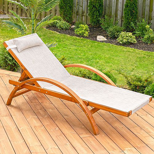 Reclining Sling Lounge Chair