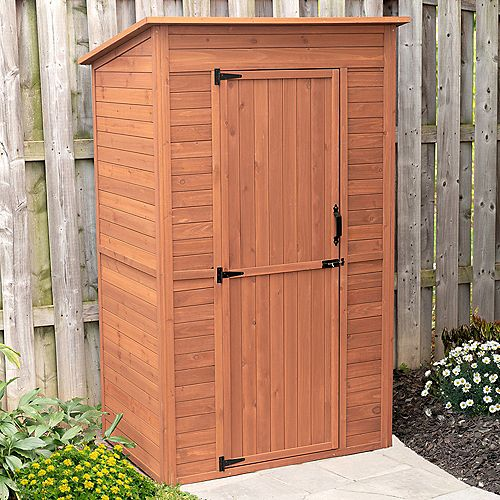 Leisure Season Deep Storage Shed with Drop Table