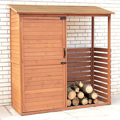 Combination Firewood and Storage Shed