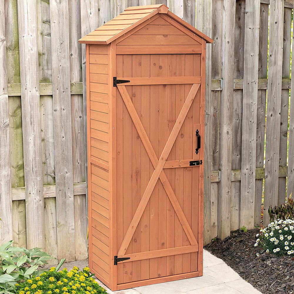 Leisure Season Vertical Shed with Drop Table