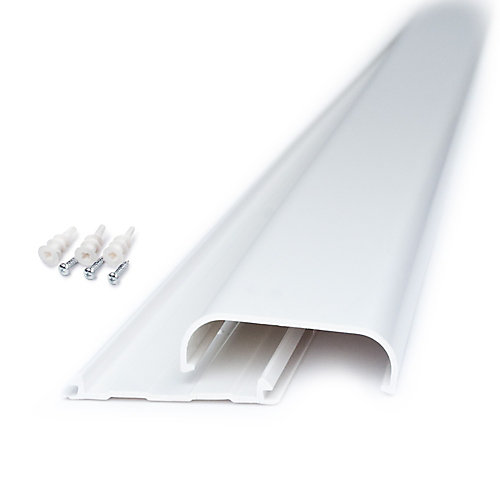 Flat Screen on Wall TV Cord Cover Kit