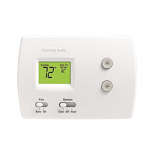 Thermostat Numérique Non Programmable Pro 3000, Chaud/Froid, Blanc, D'honeywell