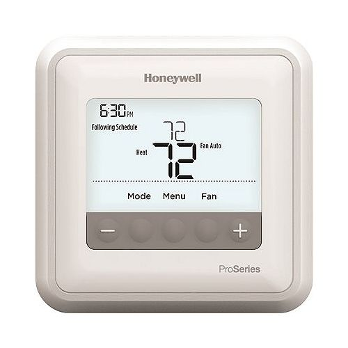 Honeywell T4 Pro Programmable Thermostat, 1 Heat / 1 Cool Heat Pump Or 1 Heat / 1 Cool Conventional