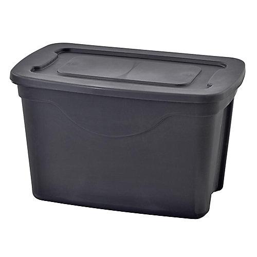 20 gal. Fourre-tout de rangement noir (paquet de 4)
