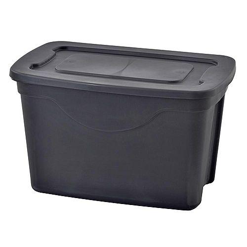 20 Gal. Storage Tote in Black (4-Pack)