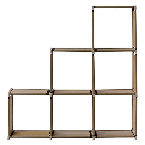 Organisateur de 6 cubes, Tan, 42,3 po x 42,1 po