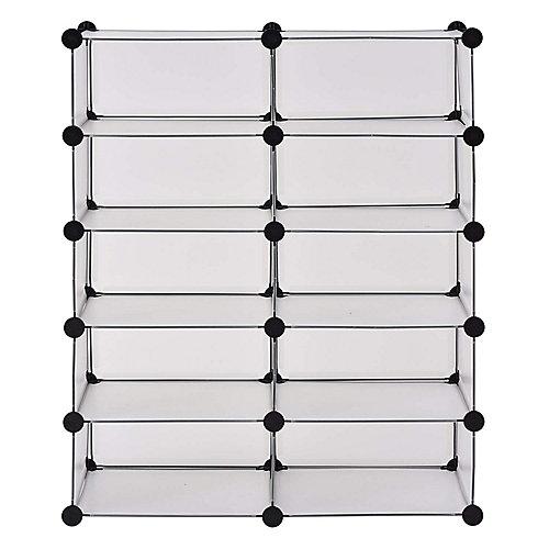 Organisateur de 10 Cube de 43,7 po. L x 37 po.