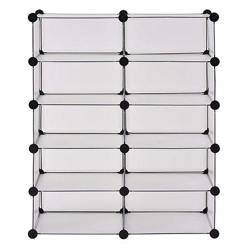 43.7 inch W x 37 inch H Clear 10-Cube Organizer