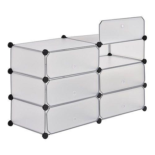 37.4 inch x 22.4 inch Clear 6-Cube Organizer