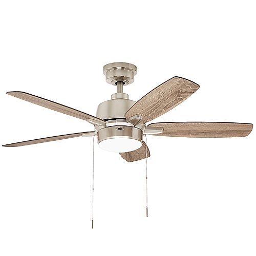 Fawndale 46-inch Integrated LED Ceiling Fan with Light Kit in Brushed Nickel Finish