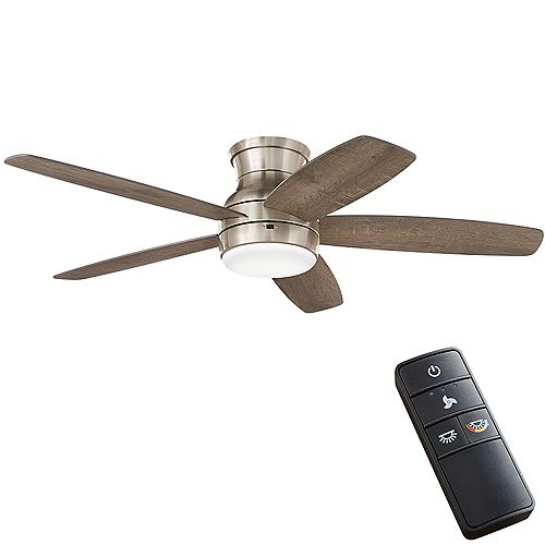 Ashby Park 52-inch Color Changing LED Brushed Nickel Ceiling Fan with Light and Remote Control