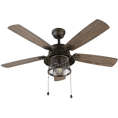 Shanahan 52 inch LED Indoor/Outdoor Bronze Ceiling Fan with Light Kit