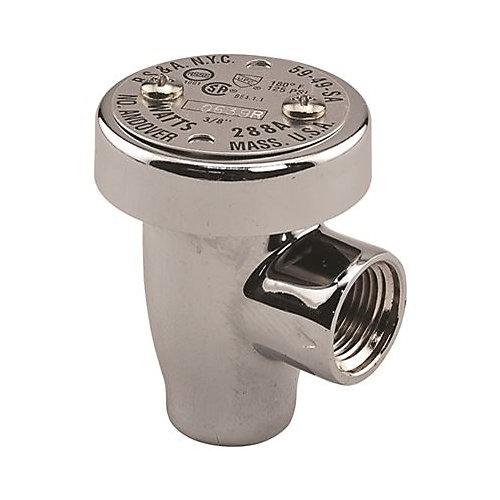 Watts Anti Siphon Vacuum Breaker, Backflow Preventer,1/2 In. Chrome, Lead Free Brass