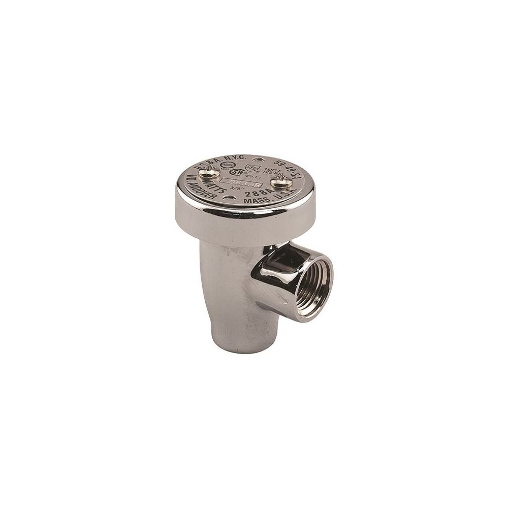 Watts Watts Anti Siphon Vacuum Breaker, Backflow Preventer, 3/4 In. Chrome, Lead Free Brass
