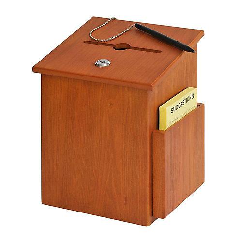 Boîte à suggestions en bois