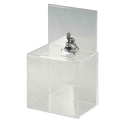 Petite boîte de collection verrouillable en acrylique