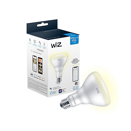WiZ 65W BR30 Dimmable Warm White LED Smart Home Wi-Fi Light Bulb