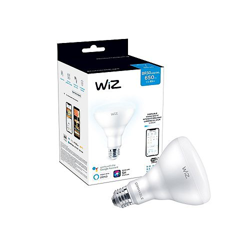 WiZ 65W BR30 Dimmable Daylight LED Smart Home Wi-Fi Light Bulb