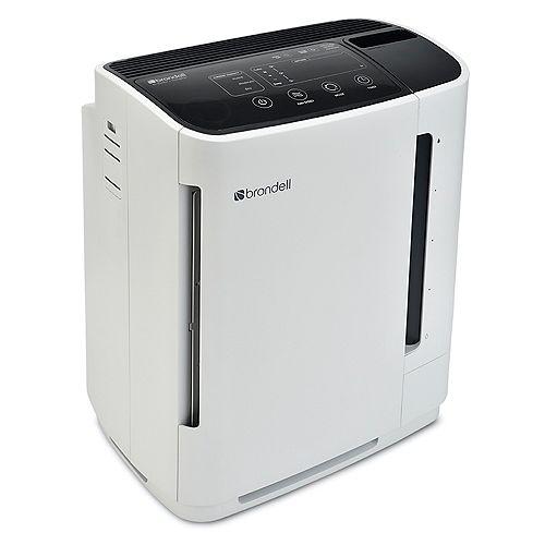 Brondell O2+ Revive TrueHEPA Air Purifier + Humidifier, White