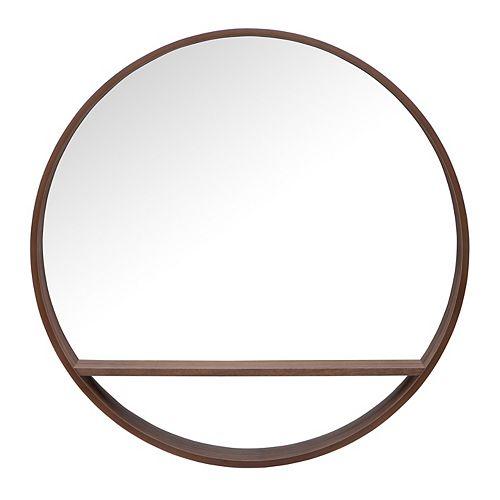 32 inch Alex Round Shelf Mirror