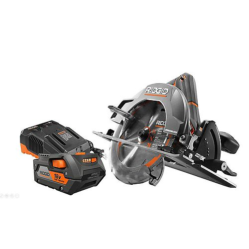 18V Cordless Brushless 7-1/4 -inch Circular Saw with 4.0 Ah Lithium-Ion Battery and Charger