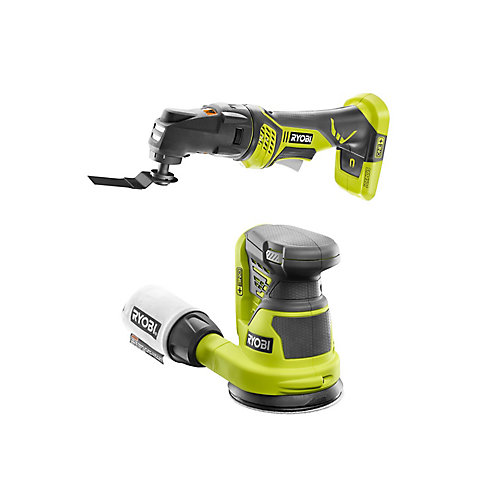 18V ONE+ Cordless Combo Kit with JobPlus Base with Multi-Tool Attachment, Orbit Sander (Tools Only)