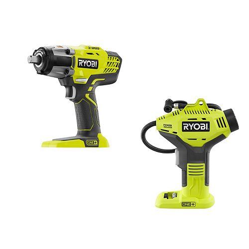 18V ONE+ Cordless Combo Kit with 3-Speed 1/2 -inch Impact Wrench and Power Inflator (Tools Only)