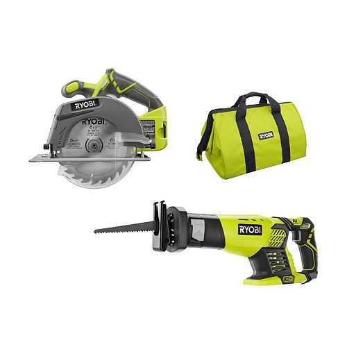 18V ONE+ Cordless Combo Kit with Reciprocating Saw and 6-1/2 -inch Circular Saw (Tools Only)