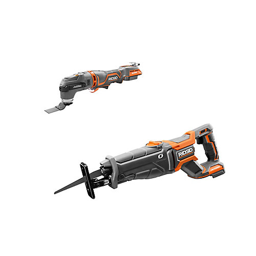 18V OCTANE Lithium-Ion Cordless Brushless Kit with Reciprocating Saw and Multi-Tool (Tools Only)