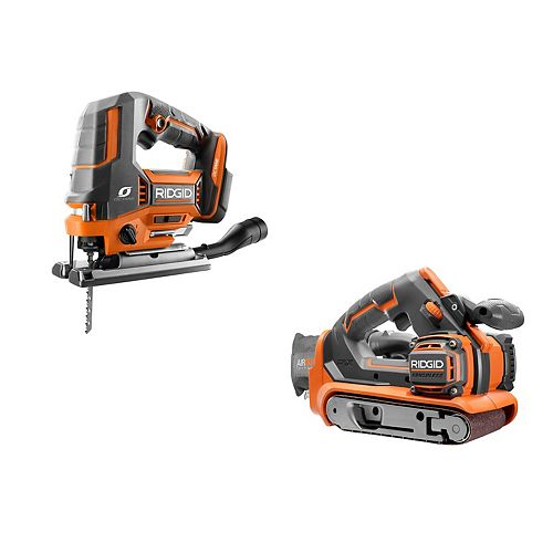 18V Cordless Kit with OCTANE Brushless Jig Saw and Brushless Belt Sander (Tools Only)