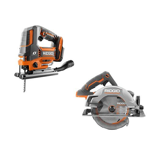 18V Cordless Kit with OCTANE Brushless Jig Saw and Brushless 7-1/4 -inch Circular Saw (Tools Only)
