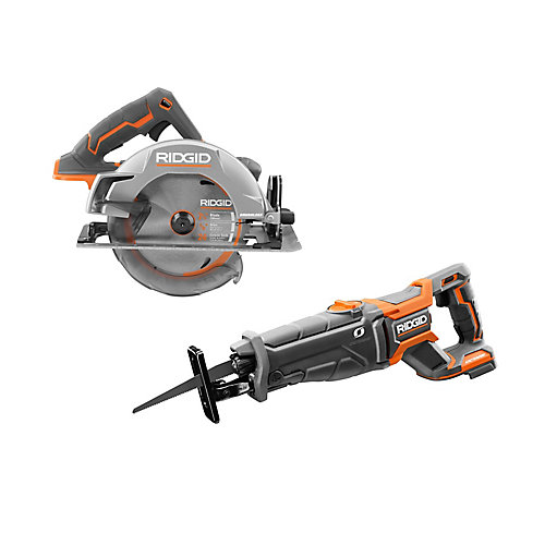 18V Cordless Kit with Brushless Circular Saw and OCTANE Brushless Reciprocating Saw (Tools Only)