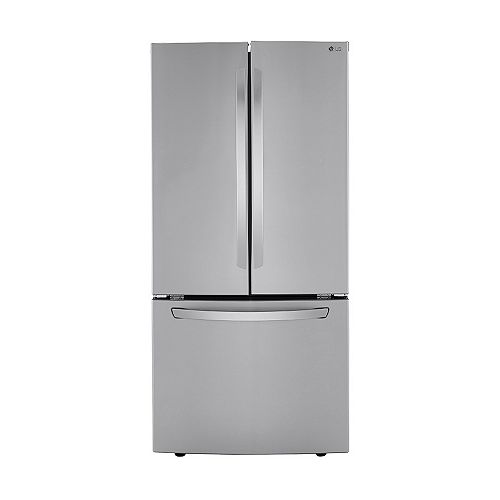 33-inch W 25 cu. ft. French Door Refrigerator in Smudge Resistant Stainless Steel - ENERGY STAR®