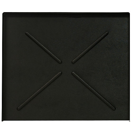 24.5 in. x 20.5 in. Black Dishwasher Pan