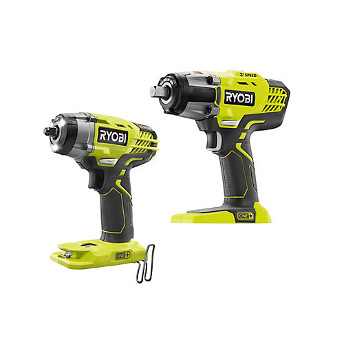 18V ONE+ Cordless Combo Kit with 1/2 -inch Impact Wrench and 3/8 -inch Impact Wrench (Tools Only)