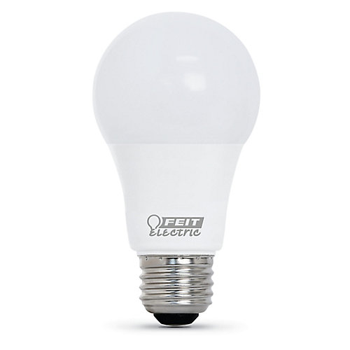 60W Eq Bright White (3000K) A19 LED 90+ CRI Garage Door Opener Light Bulb