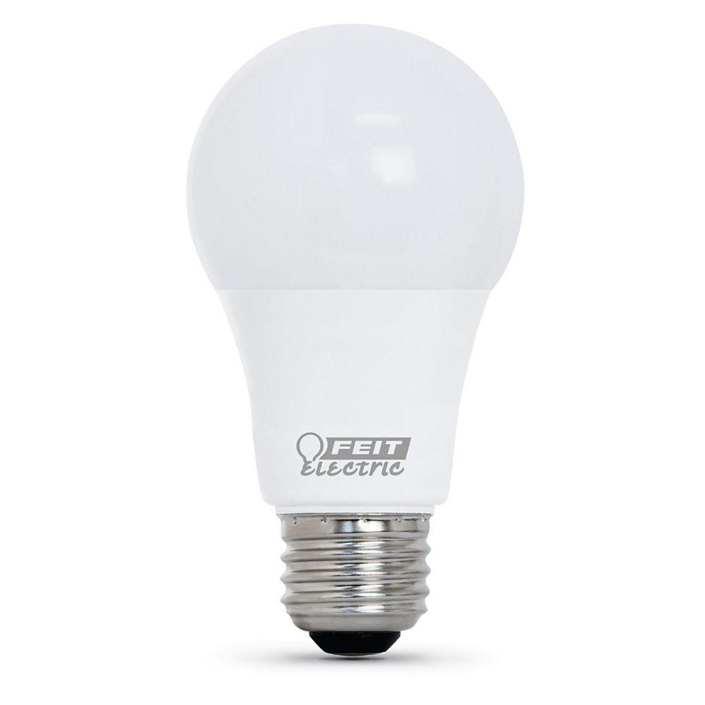 Feit Electric 60W Eq Bright White (3000K) A19 LED 90+ CRI Garage Door Opener Light Bulb