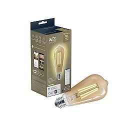 Ampoule LED à filament ST19 Warm Glow (2000K) équivalente à 40 W, à gradation, ampoule Vintage Smart