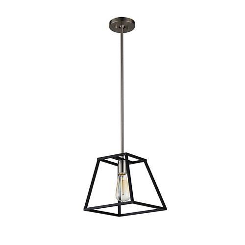Agnes I 1-Light LED Black Pendant Light