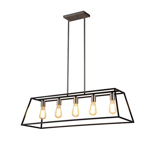 Agnes II 5-Lights LED Black Pendant Light