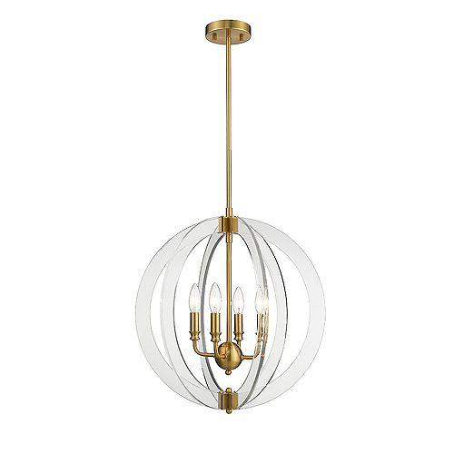 Isabelle 4-Lights LED Chandelier Light