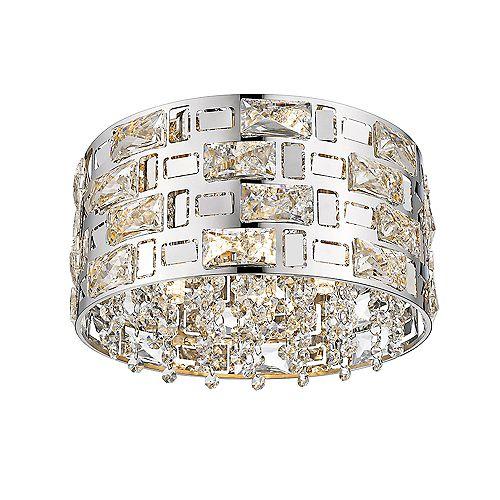 Mello 4-Lights LED Chrome Ceiling Light