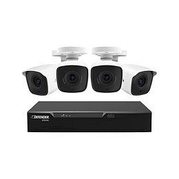Caméra 4 canaux 4 Ultra-HD 4K 1 TB DVR Système de caméra de sécurité de surveillance intérieure / extérieure pour la maison (filaire)