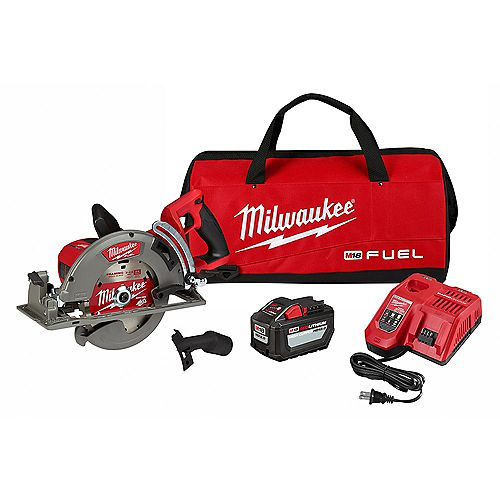 Milwaukee Tool M18 FUEL 18V 7-1/4 -inch Lithium-Ion Cordless Rear Handle Circular Saw Kit with 12.0 Ah Battery