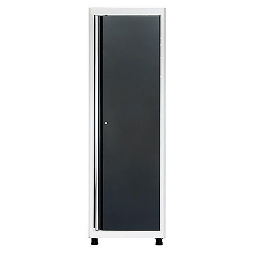 American Heritage 72  inch H x 24  inch W x 18  inch D Steel Floor Cabinet in White/Charcoal