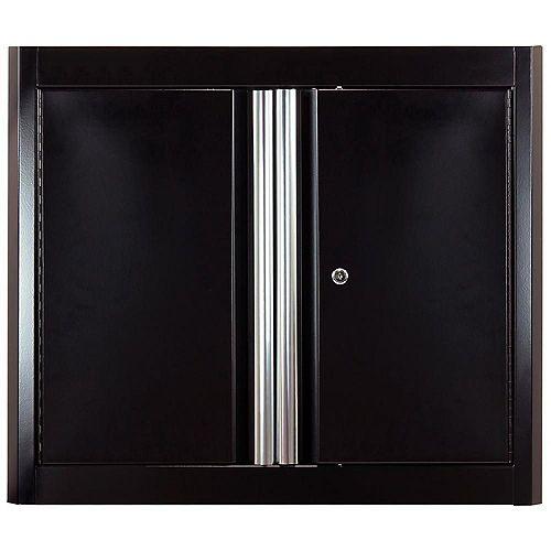 American Heritage 26  inch H x 30  inch W x 12  inch D Steel Garage Wall Cabinet in Black