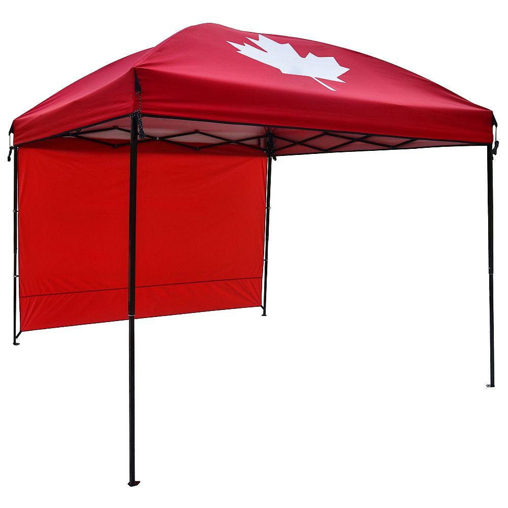 HDG 9 ft. x 9 ft. Gazebo with Sunwall in Red