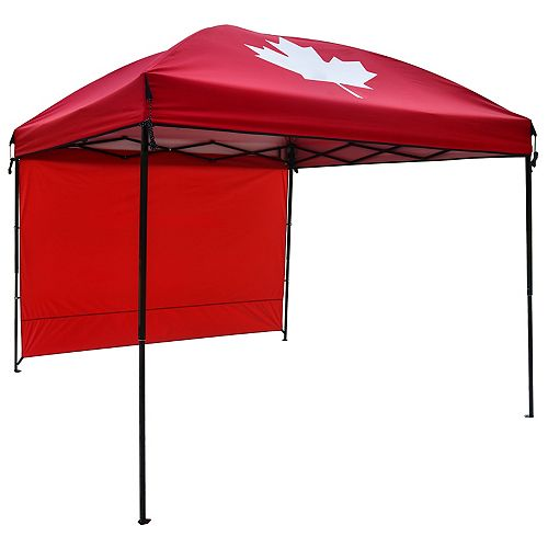 HDG 9 ft. x 9 ft. Gazebo with Sunwall in Red